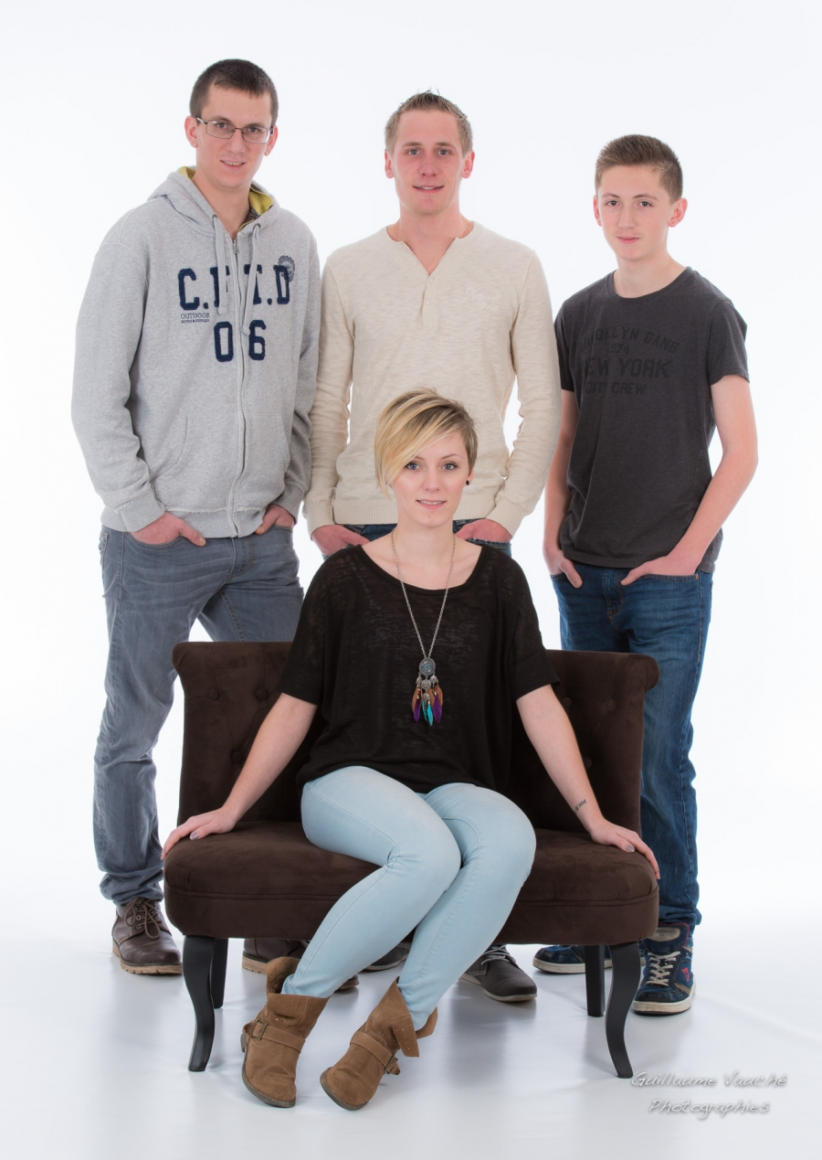 Seance photo famille en studio a Charleville Ardennes